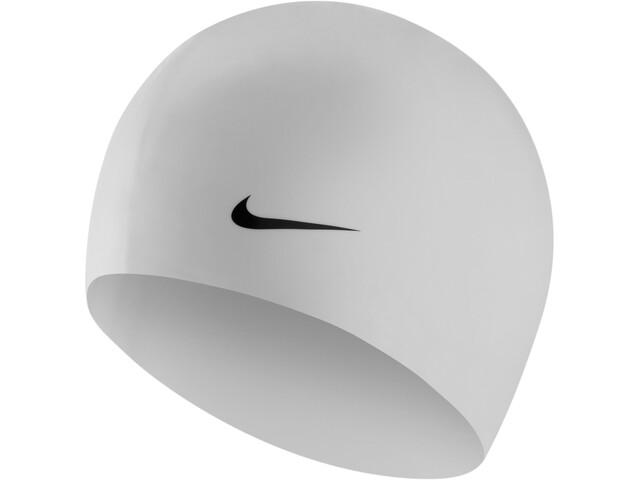 Nike Swim Solid Gorro de silicona, white